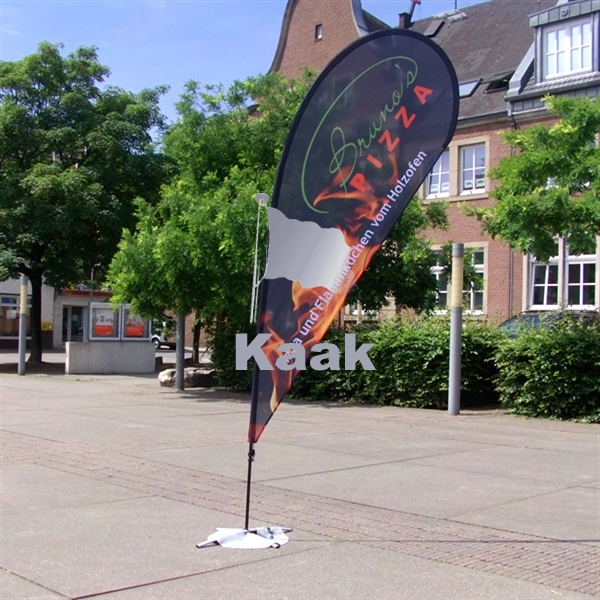 IJssalon beachflags beachvlaggen met ijs