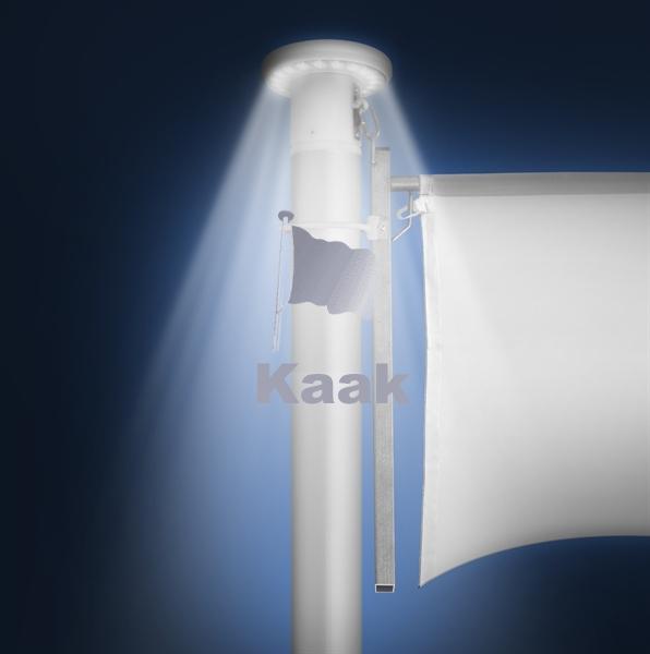 Verlichte vlaggenmast knop