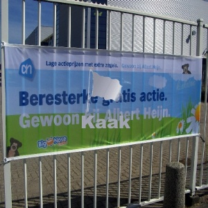 glanspolyester spandoek