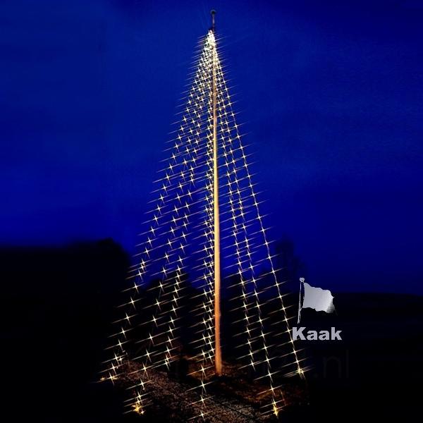 vlaggenmast kerstverlichting lichtketting